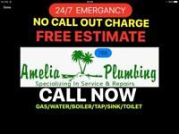 Plumbing and boiler and heating and gas services 24/7 family friendly business