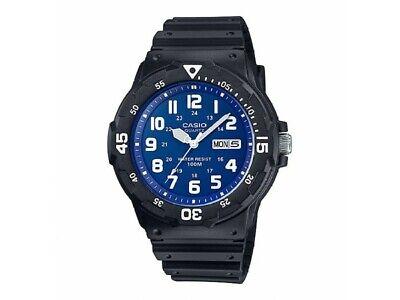 Casio MRW-200H-2B2 Original New Blue Dial Analog Mens Watch 100m WR MRW-200