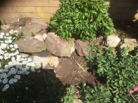 Garden Rockery Stones Dry Wall stones
