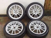 "Refurbished 17"" Ispiri Alloy Wheels & NEW Toyo Proxes 225/45 Tyres - OZ Ultraleggera - 5 x 114.3 -"