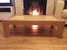Beech-effect coffee table for sale