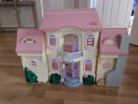 Fisher Price Vintage Grand Mansion House Folding Dolls House
