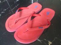 Ralph Lauren Red Flip Flops-Size 9-10