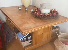 Large oak coffee table for sale
