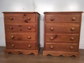 Solid Pine two Chest with free delivery within London