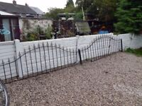wrought iron railings / metal fencing / driveway / wall topper / garden / steel fence / patio / deck