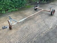 Launching trolley trailer for rib rigid inflatable boat sailing dinghy