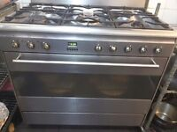 smeg 5 gas burner with elictric oven