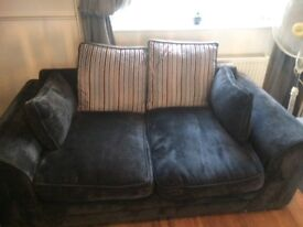 Black 3 settee 2 settee very comfy