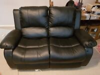 Leather Recliner. 3 seater and 2 seater.
