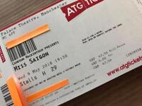 3 X Tickets Miss Saigon, Manchester, Stalls Row H (Central Aisle)