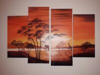 Safari wall hanging picture