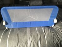 Blue cot bed guard