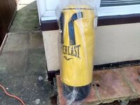 Everlast punch bag 18 kg 3ft with new wall hanger and door frame hanger