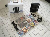 Black PS3 80gb Bundle (13 Games + Bluetooth Earpiece)