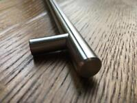 14 x Brushed Metal Kitchen Handles