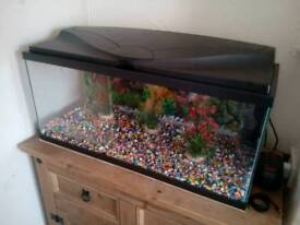 Fishtank 78 litres inc.Air pump,food and filters.