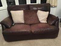 Barker & Stonehouse Natuzzi Brown leather 3pc Suite