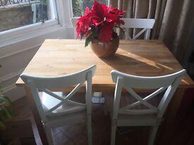 Ikea oak dining table