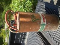 Rare Vintage Flag copper fire extinguisher.
