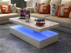 White Led Coffee Table (ME1118)
