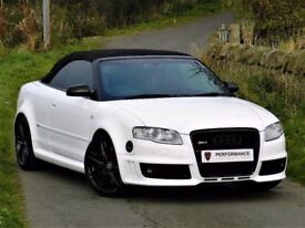 MASSIVE SPEC! AUDI RS4 CONVERTIBLE 4.2 QUATTRO - NAV - BOSE - RECARO LEATHER WINGBACK BUCKET SEATS
