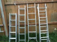 ALLOY LADDERS 1TRIPLE/ 1 DOUBLE/ 2 STEP LADDERS 4 IN TOTAL