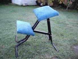 Posture, kneeling stool/chair for bad backs