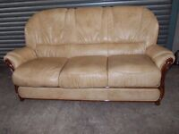 Cappucino Cream Italian Leather 3-1-1 Suite