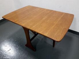 Retro Vintage G plan Fresco Drop Leaf Teak Mid-Century Modern Dining Table