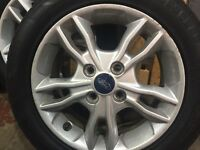 "Ford Fiesta 15"" alloy wheels & tyres off a 2014 zetec. All in great condition."