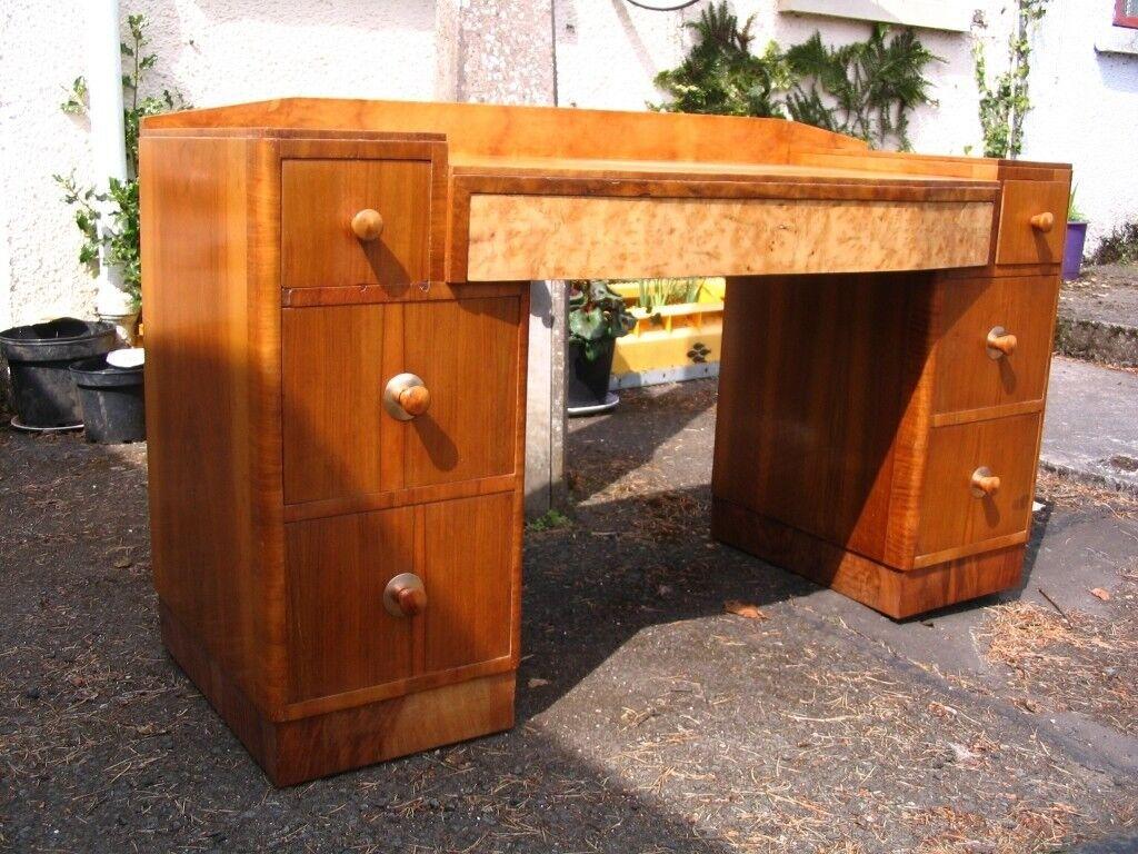 Vintage Art Deco Cabinet Dresser Dressing Table Laptop Desk The Utility Furniture C 1941 1952