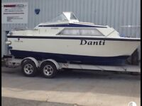 River/canal boat-21 foot Fairline Vixen Cruiser - Diesel inboard engine-lovely boat ready to sale