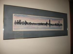 Ltd Edition Lithograph by R.E. Kennedy -  View of Boston