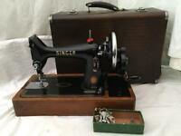 Singer 99k sewing machine with leather carry case VINTAGE
