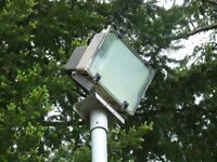 Outdoor floodlights from Tennis Courts Free to Remove and Uplift