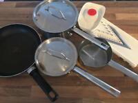 Pan set and JML food slicer