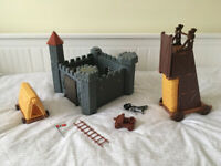 Plastic castle play set
