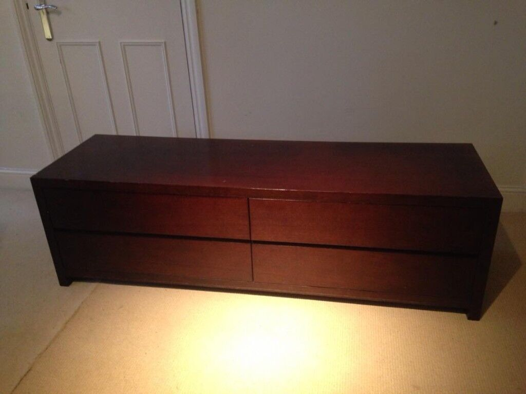 Beautiful Solid Dark Wood Chest of Drawers -