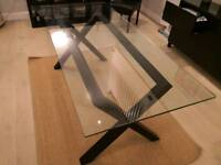Lyon Glass Dining table from Bentley Designs (RRP £500)