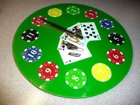 CLOCK - Novelty - house of cards -