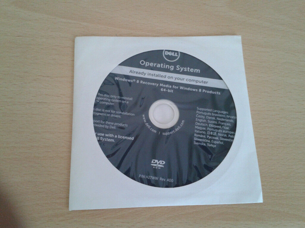 system recovery disc windows 8