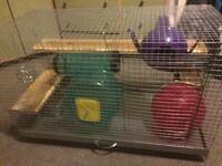 Rat, hamster, chinchilla, degus or rabbit cage