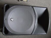 loudspeaker wedge monitor. Eminence 8 ohm 12 inch driver. Amplifier is broken but may repair