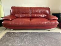 Red 3 Seater Settee