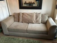 Large Next Beige Sofa with large pillows
