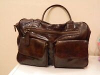 Koto brown leatherette changing bag