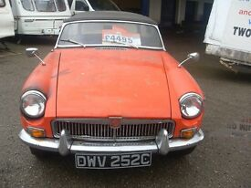 1965 (C) MGB Roadster for Restoration £4195