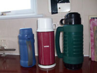 3 Vacuum Flasks 2 Thermos 1 Aladdin in Excellent Condition £3 or £1 each