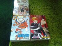 Big Manga books One Piece,Naruto and Bleach £5.00 each